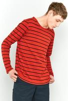 Nudie Jeans Orvar Blood Orange Breton Stripe Long-sleeve T-shirt