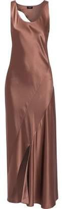 Theory Cutout Satin Maxi Dress