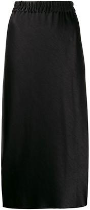 Theory elasticated-waistband midi skirt