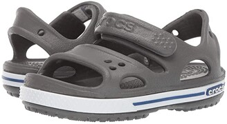 Crocs Crocband II Sandal (Toddler/Little Kid) (Slate Grey/Blue Jean) Kids Shoes