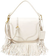 Polo Ralph Lauren Fringed Leather Saddle Bag