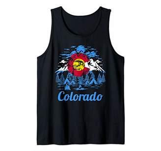 Colorado Big Foot Mountain Graphic Design Tank Top