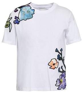 3.1 Phillip Lim Appliqued Cotton-jersey T-shirt