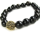 Tai - Gold Wood Bead Bracelet