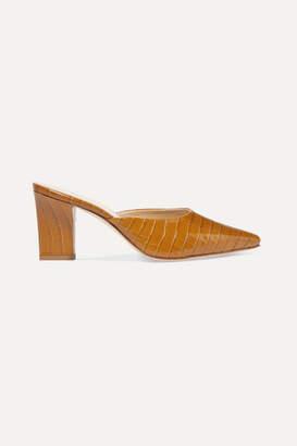 aeydē - Signe Croc-effect Leather Mules - Saffron