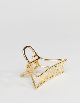 ASOS DESIGN cut out metal hair clip