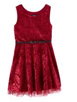 Amy Byer Blush Paisley A-Line Dress - Girls