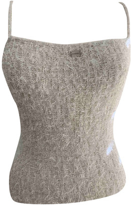 Chanel White Tweed Tops