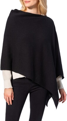 Amicale Cashmere Solid Knit Poncho