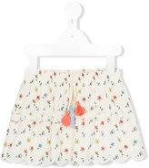 Chloé Kids floral print eyelet skirt