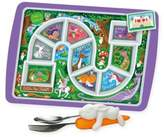 Fred & Friends Enchanted Forest Dinner Winner Tray & Snack Rabbit Utensils Set