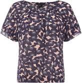 Armani Exchange Short Sleeve Printed Blouse in Pink Mushroom
