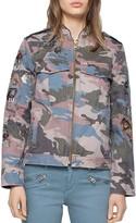 Zadig & Voltaire Kavy Camou Brode Jacket