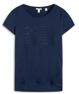Esprit OUTLET t-shirt w abstract embroidery print