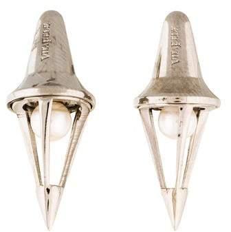 Vita Fede Titan Pearl Caged Earrings