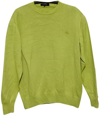 Burberry Green Cotton Knitwear & Sweatshirts