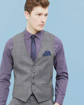 Prince Of Wales Checked Wool Waistcoat