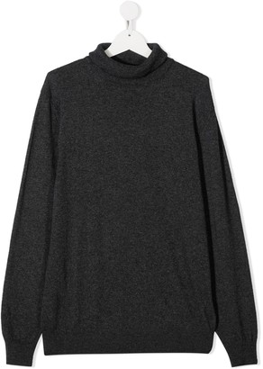 DSQUARED2 Logo Roll-Neck Knitted Jumper
