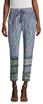 Calypso St. Barth Appoline Silk Printed Crop Pant