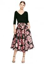 Milly Floral Print Jackie Midi Skirt