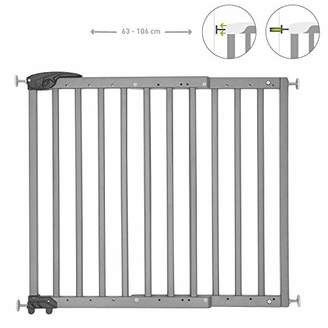 Badabulle Deco Pop White Extending Safety Gate | 63 to 106cm Wide | Pressure fit or Screw Mounted