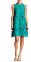 Julia Jordan Sleeveless Crochet A-Line Dress