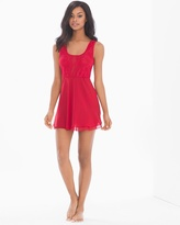 Soma Intimates Flirtation Plunging Babydoll Ruby