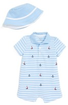 Little Me Infant Boy's Nautical Romper & Hat Set