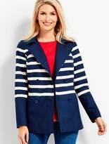 Talbots Breton Stripe Peacoat