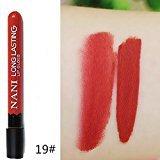 Remeehi 38 Colors Waterproof Long Lasting Velvet Matte Lip Gloss Cosmetic Lipstick 19#