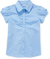 Izod Button-Woven Top - Girls 7-18 and Plus