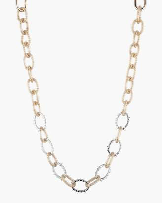 Alexis Bittar Crystal Encrusted Mesh Chain Link Necklace