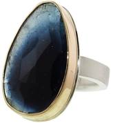 Jamie Joseph Vertical Asymmetrical Blue Green Tourmaline Ring