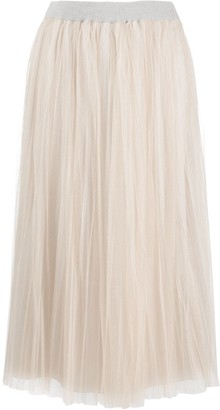Fabiana Filippi Pleated Tulle Style Skirt