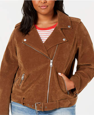 Levi's Trendy Plus Size Faux-Suede Moto Jacket