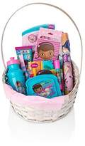 BASSKET.COM DISNEY DOC MC STUFFINS Gift Basket For Girls,(3-10 Years), 10 Piece Bundle Filled Basket of Baby/Teen Girls Gift Items, Perfect Ideas For Birthdays, Easter, Christmas, Get Well, or Other Occasion!