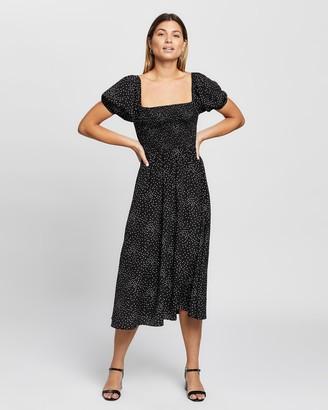 Atmos & Here Atmos&Here - Women's Black Midi Dresses - Martini Midi Dress - Size 6 at The Iconic