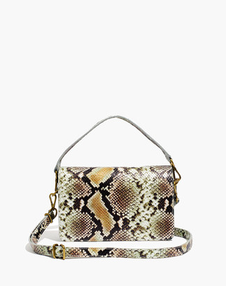 Madewell The Flap Convertible Crossbody Bag in Snake Embossed Leather