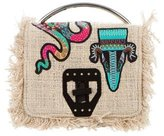 MSGM Embroidered Canvas Satchel