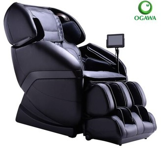Ogawa Active Reclining Heated Full Body Massage Chair with Ottoman Upholstery Color: Black