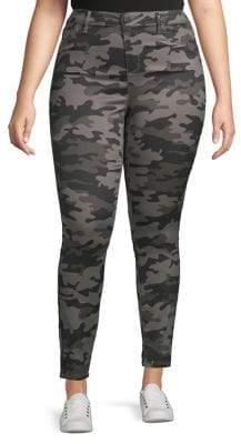 Design Lab Plus Camo-Print High-Rise Skinny Jeans