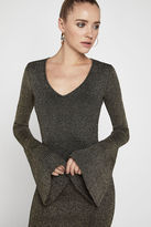 BCBGeneration Long-Sleeve Metallic Knit Dress