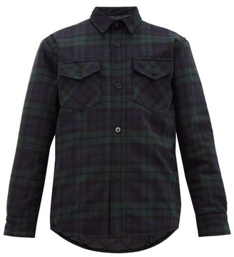 Noon Goons Mullen Checked-flannel Shirt Jacket - Mens - Black Green