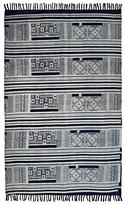 Karma Living Dabu Mosaic Block Printed Handmade Cotton Rug