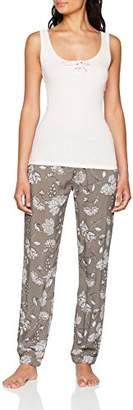Boux Avenue Women's Paisley Print Pant & Vest Set Pyjama,(Size: )