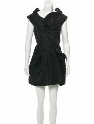 Oscar de la Renta Sleeveless Mini Dress Black