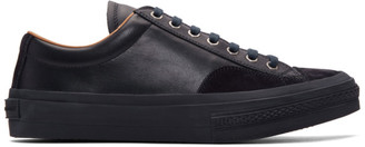 Dries Van Noten Navy Leather Sneakers