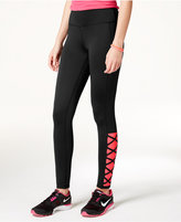 Material Girl Active Juniors' Crisscross Leggings, Only at Macy's