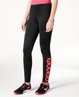 Material Girl Active Juniors' Crisscross Leggings, Only at Macy's
