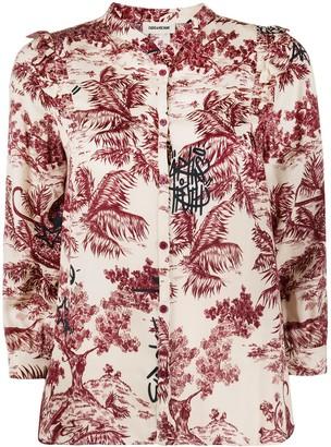 Zadig & Voltaire Collarless Three-Quarter Sleeve Shirt